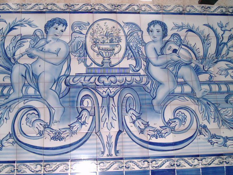 Cer mica del sur azulejos pintados a mano z calos y murales - Murales pintados a mano ...