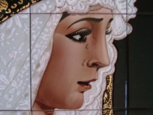 cerámica del sur azulejos pintados a mano imágenes religiosas